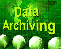 Data Archiving Shows Fact Storage And Catalog Stock Photos