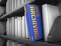 Data Archiving - Title of Book. Stock Photos