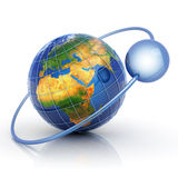 Data around world concept vector illustration