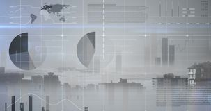 Data Background. Animated data with statistics digital background stock video