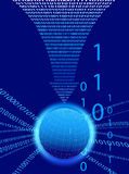 Data Background - Binary Code Technology Stream Royalty Free Stock Photo