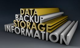 Data Backup. Information in 3d Art Sign stock illustration