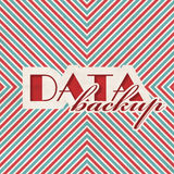 Data Backup Concept on Striped Background. Stock Photography