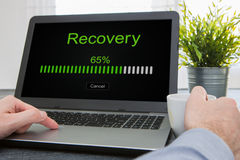 Data backup restoration recovery restore browsing plan network. Corporate networking reserve business concept - stock image Royalty Free Stock Photos