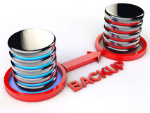 Data Backup. Symbolic Data backup over white background Royalty Free Stock Images