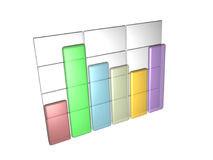 Data Bar Graph. Database Bar Graph created in 3D Studios Max Royalty Free Stock Images