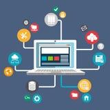 Data base design. Illustration eps10 graphic Stock Image