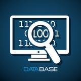 Data base design. Illustration eps10 graphic Royalty Free Stock Photos