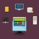 Data base design. Illustration eps10 graphic Royalty Free Stock Photo