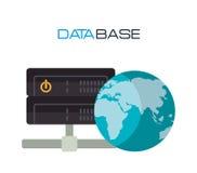 Data base design. Illustration eps10 graphic Royalty Free Stock Images