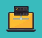 Data base design. Illustration eps10 graphic Royalty Free Stock Image