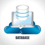 Data base design. Illustration eps10 graphic Royalty Free Stock Photography