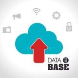 Data base design. Illustration eps10 graphic Stock Images