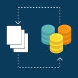 Data base design. Royalty Free Stock Photography