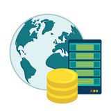 Data base design. Royalty Free Stock Image