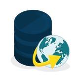 Data base design. Stock Photo