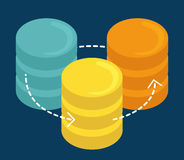 Data base design. Royalty Free Stock Photo