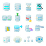 Data base icons set Royalty Free Stock Image