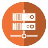 Data base technology server system shadow. Vector illustration eps 10 Stock Photography