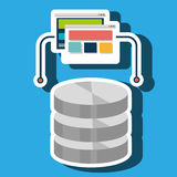 data base web page Royalty Free Stock Images
