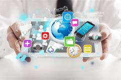Data. Big rack center provider network strategic Stock Photo