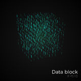 Data block vector. Abstract technology matrix background concept. Big data cube or block. Blockchain technology vector illustration. Distributed database for Royalty Free Stock Photo