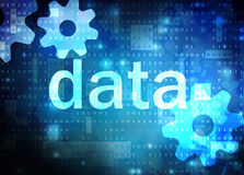 Data blue technological background Stock Images