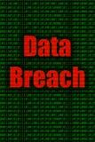 Data bryter igenom och internetsäkerhet Arkivfoton