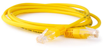 Data cable over white Stock Image