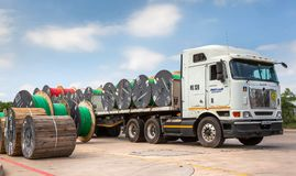 Free Data Cable Ready To Be Transported. Stock Photography - 121547012