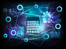 Data calculation in business world transfer network vector Royalty Free Stock Photo