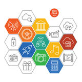 Data cells icons - gaming and media Stock Image