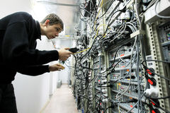 Data Center. KYIV, UKRAINE - NOV 16: Worker at Data Center of Volia company during open doors day on November 16, 2007 in Kyiv, Ukraine Stock Images