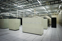 Data Center. Interior view of a data center with equipment royalty free stock image