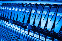 Data center. Hard drives in data center Royalty Free Stock Image