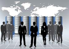 Data center admin stock illustration