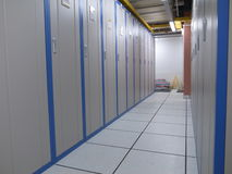 Data Center cabinets. A cabinet lineup in a data center Royalty Free Stock Photos