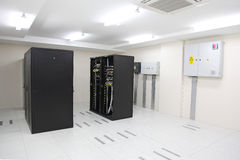 Data Center Cabinets Stock Image