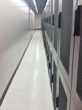 Data center cabinets. Royalty Free Stock Photo