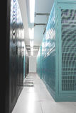 Data Center Cabinets. Cabinets in data center, vertical view royalty free stock images