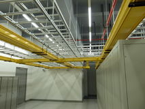 Data Center cable trays setup. A typical setup of Data center cable trays setup Royalty Free Stock Photos