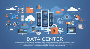 Data Center Cloud Computer Connection Hosting Server Database Synchronize Technology Royalty Free Stock Photography