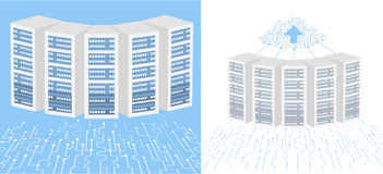Data Center Cloud Connection. Stock Photography
