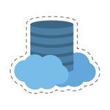 Data center cloud information digital Stock Image