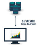 Data center computer business graph connected Stock Images