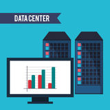Data center computer financial graph. Vector illustration eps 10 Stock Image