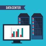 Data center computer financial graph Stock Image