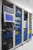 Data center computer racks Stock Photo