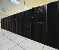 Data center computers. Data storages and servers Royalty Free Stock Photo