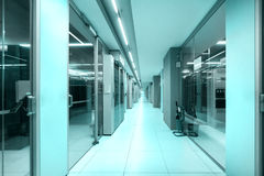 Data center corridor, technology concept Stock Images